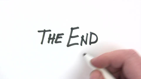 The End stock footage