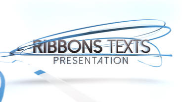 Ribbons Texts Presentation - After Effects Template After Effects Template