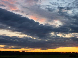Cloud melts at sunset. Time Lapse. 320x240 Stock Video Footage