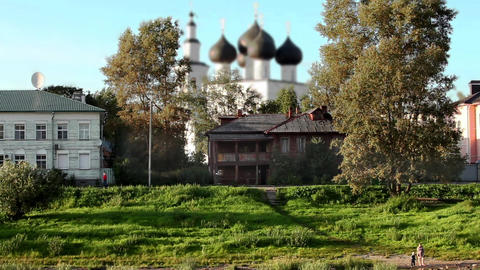 Russian Town stock footage