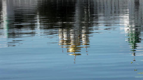 inverted reflection Ipatiev Monastery Stock Video Footage