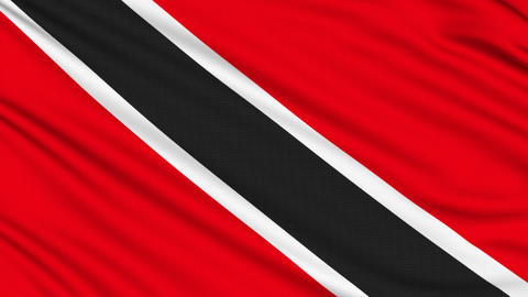 Trinidad and Tobago Flag, with real structure of a fabric Animation