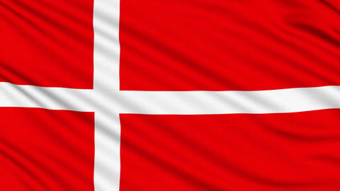 Danish Flag, with real structure of a fabric Animation