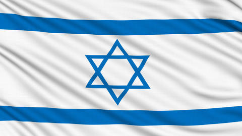Israeli Flag, with real structure of a fabric Animation