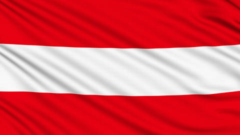 Austria Flag, with real structure of a fabric Animation