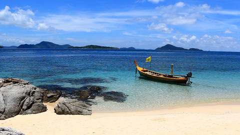 serene of the Andaman sea Stock Video Footage