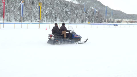 snowmobile 01 Stock Video Footage