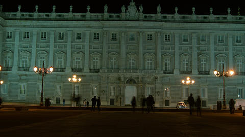 Royal Palace of Madrid, Madrid Spain Stock Video Footage
