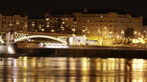4K Budapest by Night Timelapse 41 Stock Video Footage