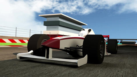 4K Formula 1 Car on Race Track v1 2 Animation
