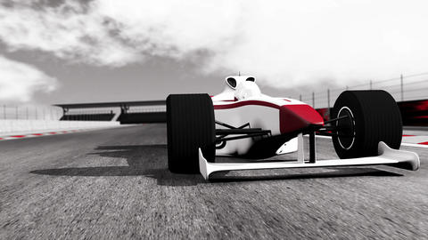 4K Formula 1 Car on Race Track v1 4 Stock Video Footage
