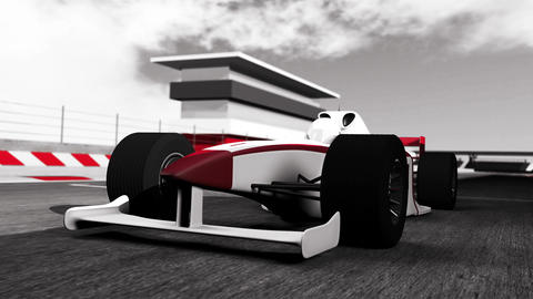 4K Formula 1 Car on Race Track v1 4 Animation