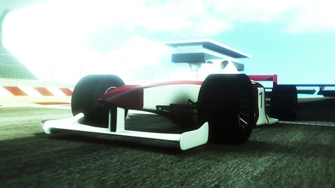 4K Formula 1 Car on Race Track v1 6 Stock Video Footage