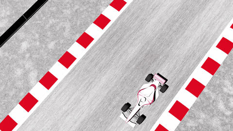 4K Formula 1 Car on Race Track v2 2 Stock Video Footage