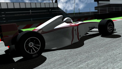 4K Formula 1 Car on Race Track v3 2 Stock Video Footage