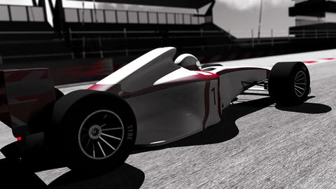 4K Formula 1 Car on Race Track v3 4 Animation