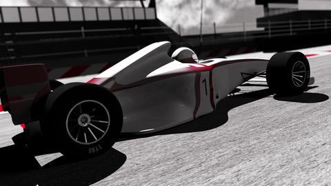 4K Formula 1 Car on Race Track v3 4 Stock Video Footage