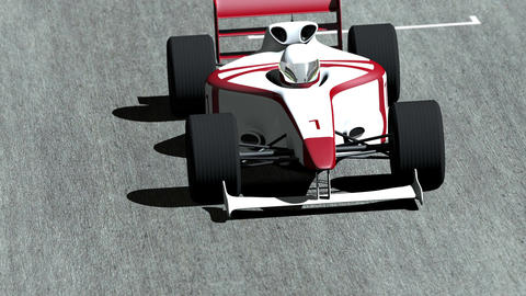4K Formula 1 Car on Race Track v4 2 Animation