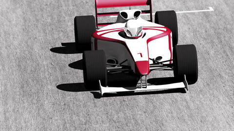 4K Formula 1 Car on Race Track v4 4 Animation