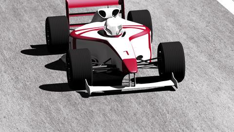 4K Formula 1 Car on Race Track v4 4 Stock Video Footage