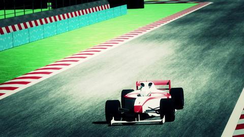 4K Formula 1 Car on Race Track v4 6 Stock Video Footage