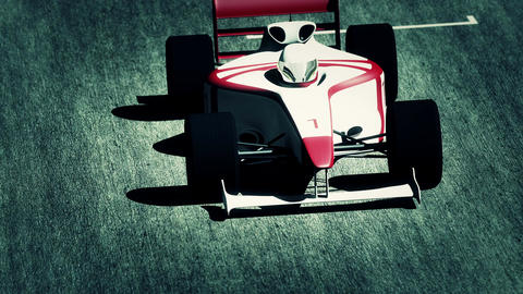 4K Formula 1 Car on Race Track v4 6 Animation