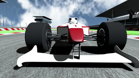 4K Formula 1 Car on Race Track v5 2 Stock Video Footage