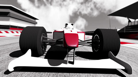 4K Formula 1 Car on Race Track v5 4 Stock Video Footage