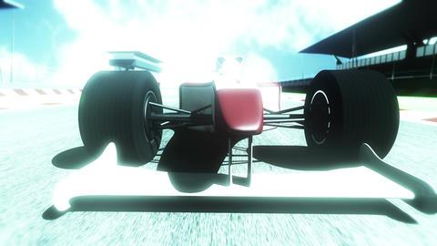 4K Formula 1 Car on Race Track v5 6 Stock Video Footage