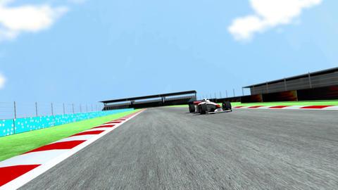 4K Formula 1 Car on Race Track v6 2 Stock Video Footage