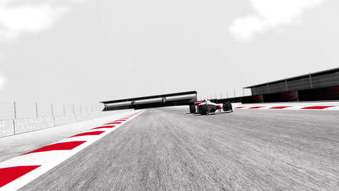 4K Formula 1 Car on Race Track v6 4 Stock Video Footage