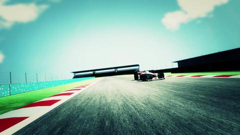 4K Formula 1 Car on Race Track v6 6 Stock Video Footage