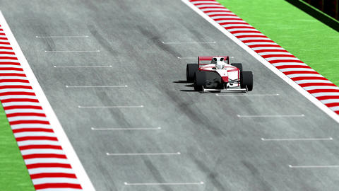 4K Formula 1 Car on Race Track v7 2 Stock Video Footage