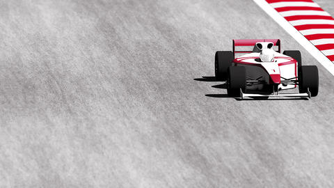 4K Formula 1 Car on Race Track v7 4 Stock Video Footage