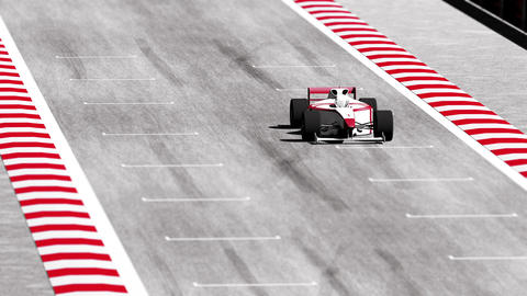 4K Formula 1 Car on Race Track v7 4 Animation