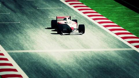4K Formula 1 Car on Race Track v7 6 Stock Video Footage