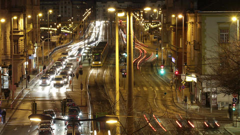 Budapest by Night Timelapse 87 Stock Video Footage