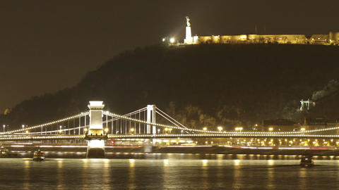 Budapest by Night Timelapse 93 Footage