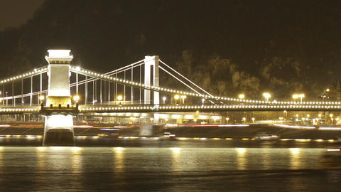Budapest by Night Timelapse 95 Stock Video Footage