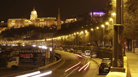 Budapest by Night Timelapse 97 Stock Video Footage