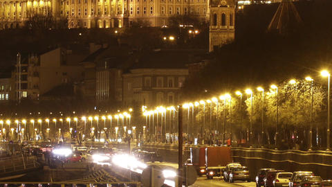 Budapest by Night Timelapse 99 Stock Video Footage