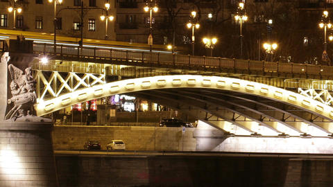 Budapest by Night Timelapse 101 Stock Video Footage