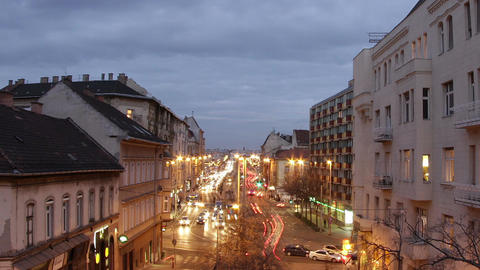 Budapest Evening Timelapse 80 Stock Video Footage
