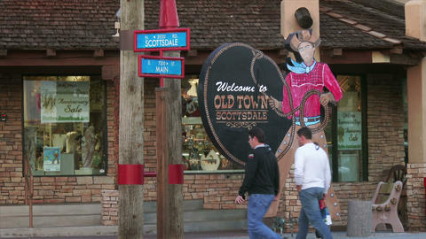 Old Town Scottsdale Sign Footage