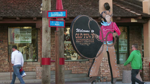Old Town Scottsdale Sign Stock Video Footage