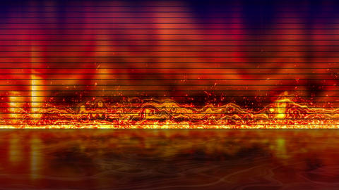 Fiery Equalizer With Reflection Loopable Backgroun stock footage