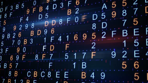 Twitching Hexadecimal Data Background stock footage