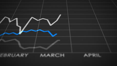 Stock Market Graph Ups And Downs (25fps) stock footage