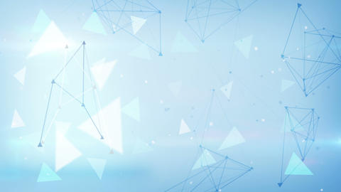 blue technology triangles loopable background Animation