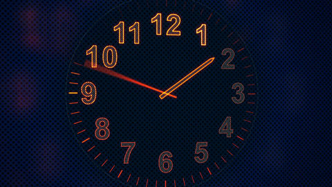 Animation Clock Timelapse Seamless Loop stock footage